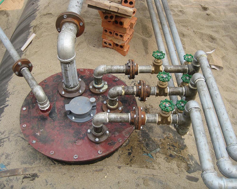 Hệ thống van dầu nối mặt tec.